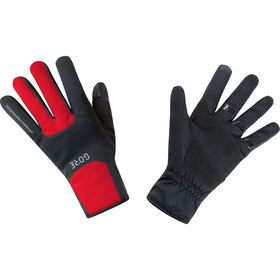 GORE WEAR M Gants Gore Thermo coupe-vents, black/red